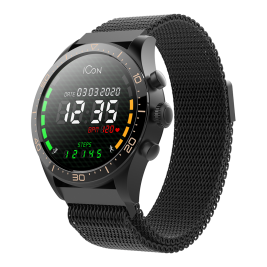 Smartwatch AMOLED ICON AW-100 czarny