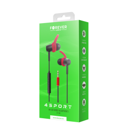 4Sport SP-100 Cable Earbuds red