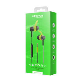 4Sport SP-100 Cable Earbuds green