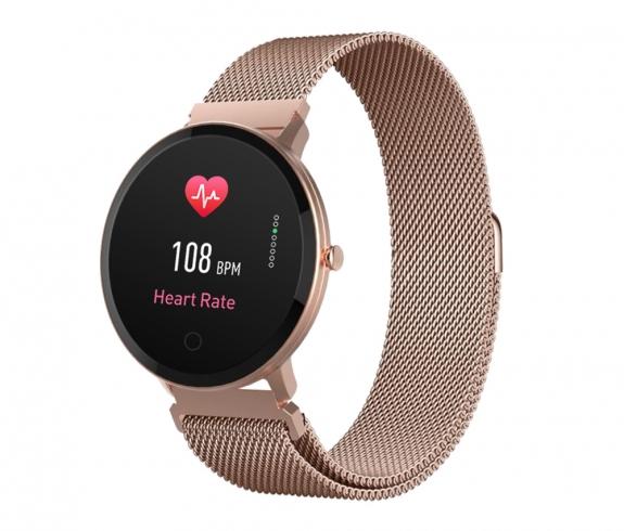 Smartwatch Forever ForeVive SB-320 różowo-złoty