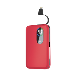 CORE power bank 5000 mAh + cable lightning red