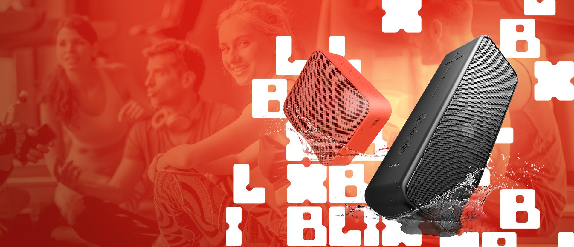 (Polski)  Głośnik Bluetooth Forever Speaker Blix 5 BS-800 Słuchaj muzyki, gdziekolwiek jesteś